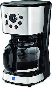 It receives an excellent rating for convenience. Amazon Com Q2 Deluxe 12 Cup Digital Electric Coffee Maker With Programmable Digital Timer For Auto Brew 1 8l Black Glass Carafe Strong Brew Option Stay Warm Function Non Drip Digital Screen Water Level Indicator Removable