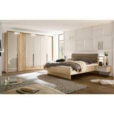 Schlafzimmer Set Grandesco In Hellgrau Glanz Und Eiche Dekor Modern