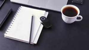Stock Video Clip of Workspace work desktop black and white business