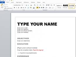 Download How To Make A Resume In Word