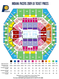 Pacers Game Seating Chart 2009 10 Seating Chart Indiana Pacers