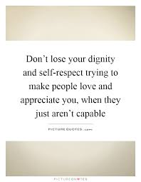 dignity and self respect essay