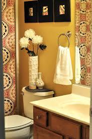 Marvelous Yellow Wall Paint Of Elegant Bathroom Idea Feat White ...