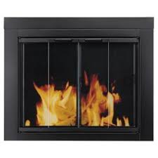 modern glass fireplace doors. pleasant hearth ascot black small bi-fold fireplace doors with clear tempered glass modern