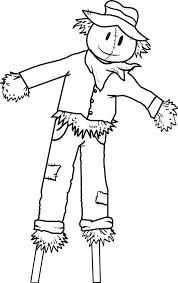 printable scarecrow coloring pages free page for kids sheets