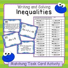fun task card activity for practicing writing and solving 1 step and 2 step