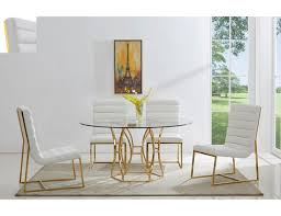 regal gold dining table set white chairs jpg