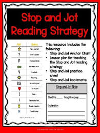 Stop And Jot Anchor Chart Worksheets Teaching Resources Tpt