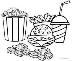 Restaurant Coloring Sheets Restaurant Supplies Coloring Pages Kids