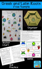 Latin Roots Chart Free Activities For Greek And Latin Roots Book Units Teacher
