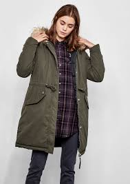 oliver padded reversible coat with fake fur dark blue fixed hood with detachable faux