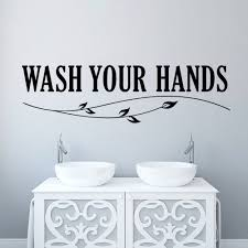 wash your hands wall sticker quotes bathroom toilet wall decor poster waterproof art vinyl decal bathroom wall stickers in wall stickers from home garden  on toilet wall art stickers with wash your hands wall sticker quotes bathroom toilet wall decor