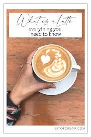 what is a latte history latte art