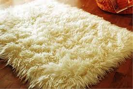ivory faux fur area rug