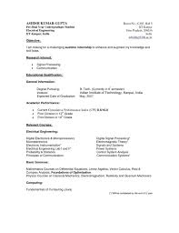 Resume Undergraduate How To Write A Perfect Internship Resume Examples Included 94