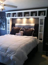 headboard storage rack. DIY Bed Want These Shelves Its Like Our Headboard Times 10 And Storage Rack