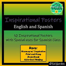 Inspirational Quote Posters In Spanish And English By Sol Garden Amazing English Inspiration
