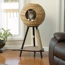 sauder  sphere tower cat scratching tree  cats  pinterest