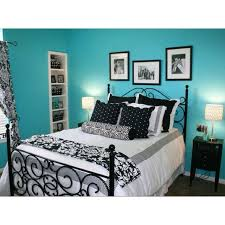 Black Turquoise And White Bedroom Ideas 3