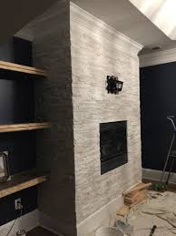 stacked stone fireplace surround bower power