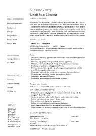 Sample Resume For Retail Sales Retail Job Resume Sample Dew Drops