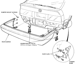 3 rear bumper removal on 1986 89 accord