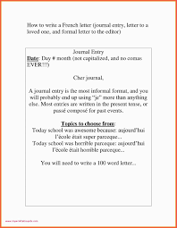 Dear Formal Letter French French Sample Letters To A Friend New