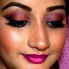 cranberry and copper eye makeup