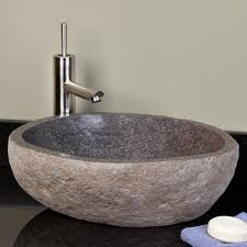 gray vessel sink. Fine Gray Dark Gray River Stone Vessel Sink  Sinks Bathroom On E
