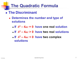 25 solving quadratic equations