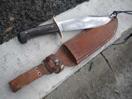 Western, boulder, Colo USA, bowie Knife Fixed Blade