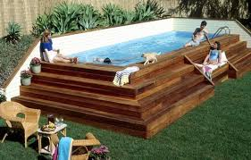 square above ground pool with deck. Fine With Above Ground Pool Deck Plans Pictures With Square Type And For Medium Size Throughout With U