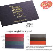 Black Colour Chart Paper 600gsm Keaykolour Original