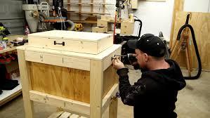 wooden cooler box 24
