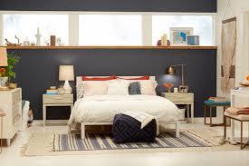 interior design ideas bedroom blue. Target Accent Wall_Emily Henderson_Bedroom_Blue_Bedding_Midcentury Modern 3 Interior Design Ideas Bedroom Blue
