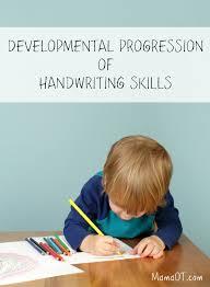 Handwriting Progression Chart Developmental Progression Of Handwriting Skills