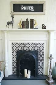 ritzy mor pearl tiles tile circle fireplace surround ideas ornamental ideal mosaic diy fullsize white electric with bookshelves tools fires and fireplaces