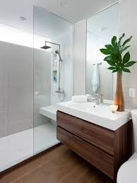 Houzz Interior Design Ideas example of a minimalist bathroom design in toronto with an integrated sink flat panel
