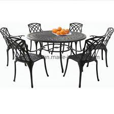 cast aluminium black outdoor dining
