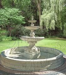 fountain garden. White Marble Estate Fountain - MF-1689 Garden