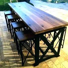 farmhouse pub table plans style picnic diy outdoor base industrial image architectures amazing round