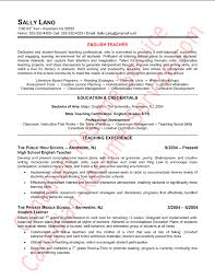 English Teacher Resume - Trenutno.info