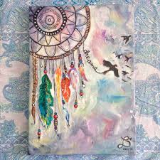 Dream Catcher Paintings Dream catcher made for someone special Acrylic on 100x100 canvas 2