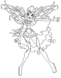 Coloriage Bloom Bloomix Winx Imprimer