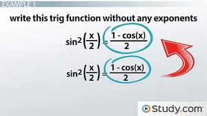 half angle identities uses s lesson transcript study com
