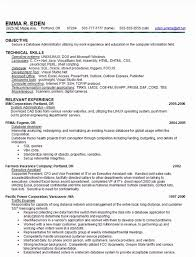 Sample Resume For Database Administrator