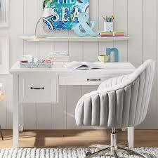 Hampton Single Pedestal Desk Pbteen within Pottery Barn Teen Desk