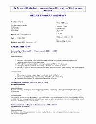General Resume Template Beautiful University Resume Template