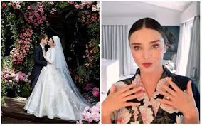 aussie supermodel miranda kerr tied the knot with snapchat founder evan spiegel last may and she is every bit of a princess dressed in her grace kelly
