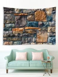 3D <b>Rock Stone Wall Printing</b> Home Tapestry #Ad , #affiliate, #Wall ...